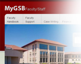 MyGSB Intranet/Internal website